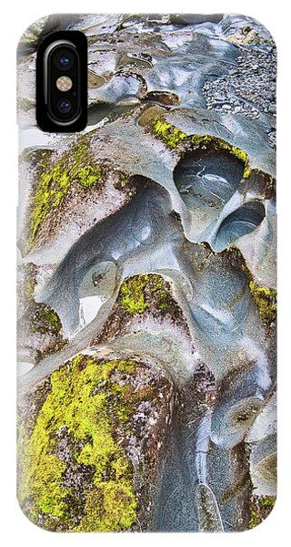 IPhone Case featuring the photograph Rock Grooves 2 - The Chasm - New Zealand by Steven Ralser
