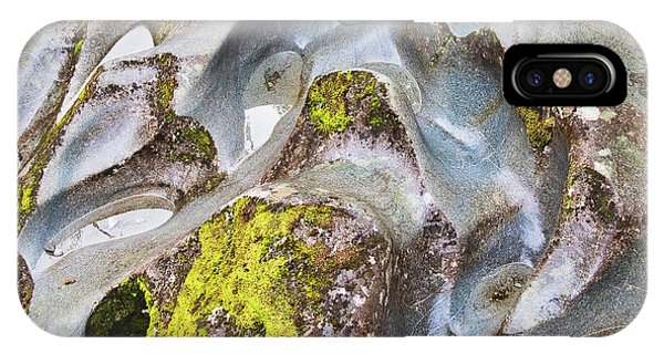 IPhone Case featuring the photograph Rock Grooves - The Chasm - New Zealand by Steven Ralser