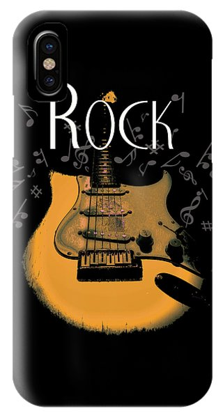 Rock Guitar Music Notes IPhone Case
