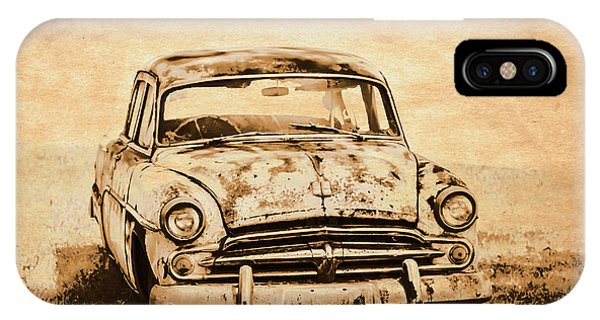 Wreck iPhone Case - Rockabilly Relic by Jorgo Photography - Wall Art Gallery