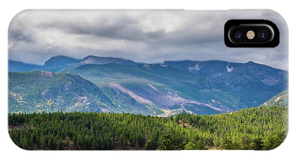 IPhone Case featuring the photograph Rockies - Clouds by James L Bartlett