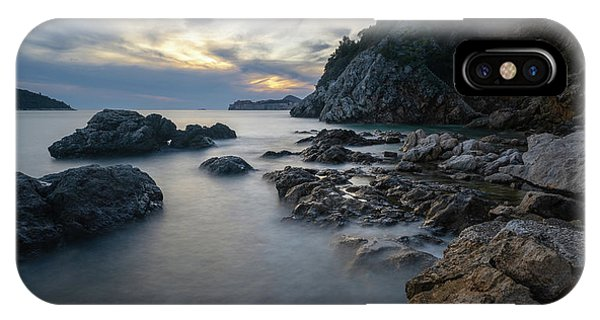 IPhone Case featuring the photograph Rocky Coast Near Dubrovnik by Milan Ljubisavljevic