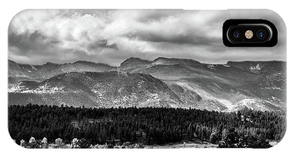 IPhone Case featuring the photograph Rocky Foothills Bw by James L Bartlett