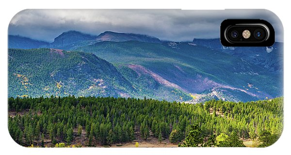 IPhone Case featuring the photograph Rocky Mountains - Green by James L Bartlett