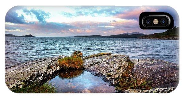 Fairy Glen iPhone Case - Rocky Pools Of Salty Sea by Debra and Dave Vanderlaan