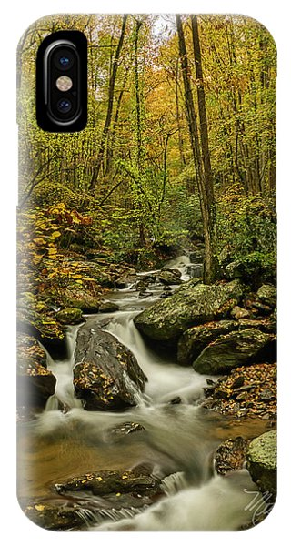 IPhone Case featuring the photograph Rocky Stream Vertical by Meta Gatschenberger