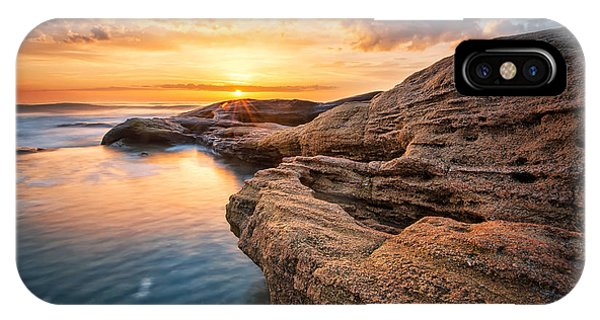 Boulder iPhone Case - Rocky Sunrise. Sea Sunrise At The Black by Jasmine k