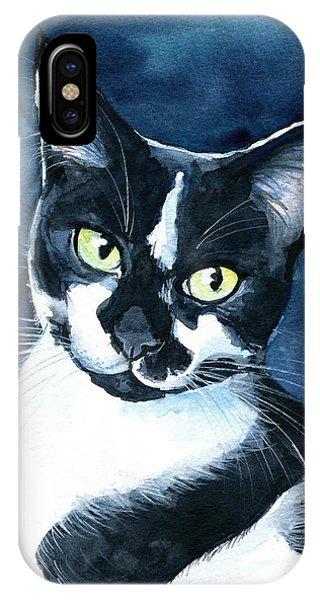 Rollie Tuxedo Cat Painting IPhone Case
