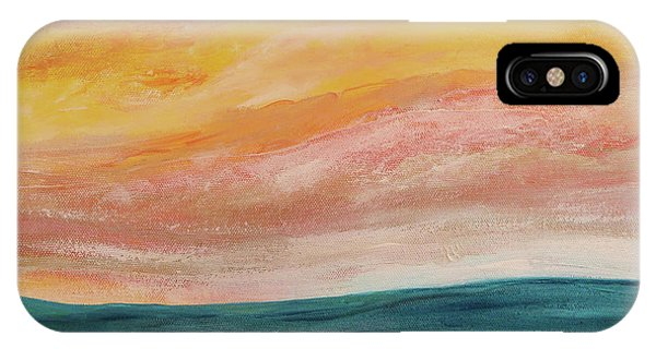 IPhone Case featuring the painting Rolling Ocean by Valerie Anne Kelly