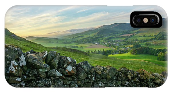 Beautiful Scotland iPhone Case - Rolling Scottish Countryside by Mr Doomits