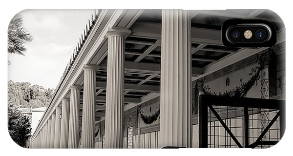 J Paul Getty iPhone Case - Roman Column Exterior Getty Villa  by Chuck Kuhn