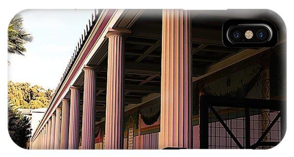 J Paul Getty iPhone Case - Roman Columns Getty Villa  by Chuck Kuhn