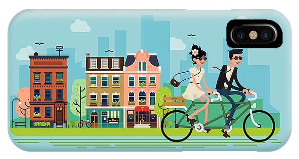 Romantic Vector Concept Illustration On Phone Case by Mascha Tace