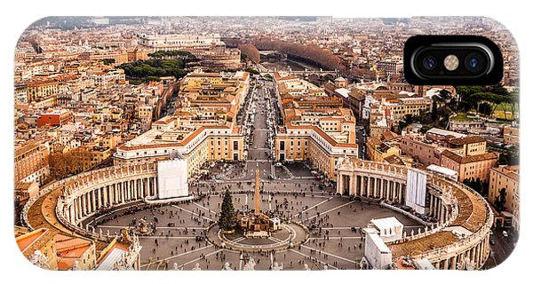 Columns iPhone Case - Rome, Italy. Famous Saint Peters Square by S-f