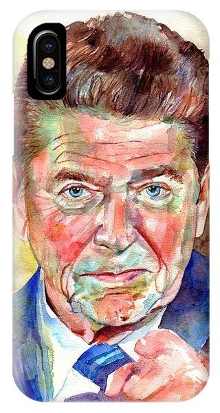 Fair iPhone Case - Ronald Reagan Portrait by Suzann Sines