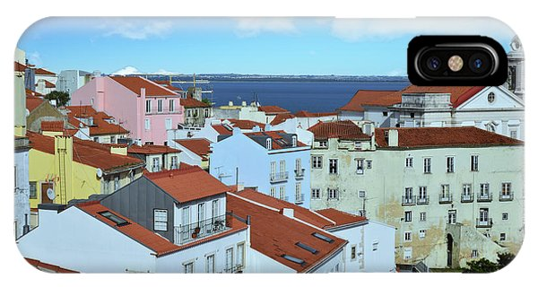 iPhone Case -  Rooftops Of Alfama Lisbon by Kathy Yates