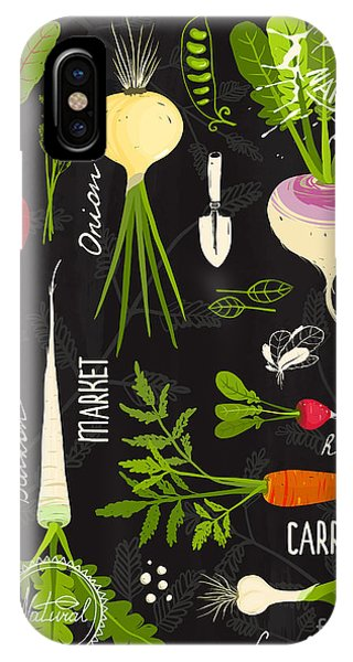 Ingredient iPhone Case - Root Vegetables With Leafy Tops Set For by Popmarleo