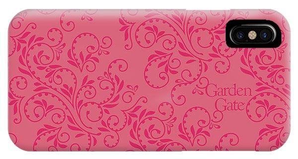 Rose Colored Fern Pattern IPhone Case