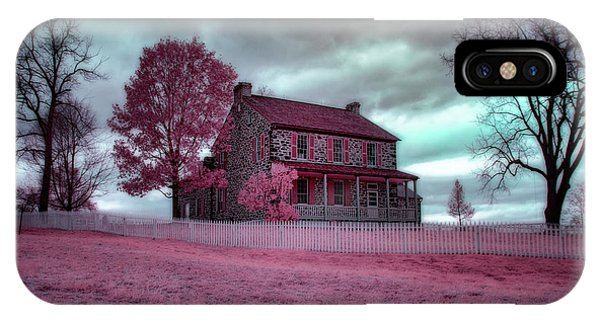 Rose Farm In Infrared IPhone Case
