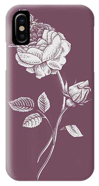 Bouquet iPhone X Case - Rose Purple Flower by Naxart Studio