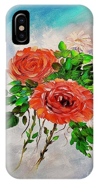 IPhone Case featuring the painting Roses by Mary Scott