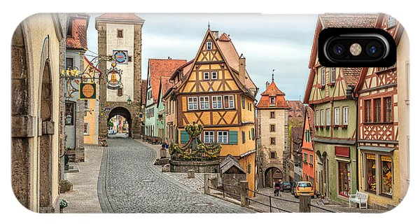 Old Building iPhone Case - Rothenburg Ob Der Tauber, Famous by Boris Stroujko