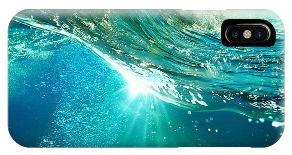 Ripples iPhone Case - Rough Colored Ocean Wave Breaking Down by Willyam Bradberry