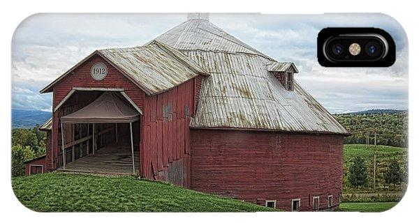 Round Barn - Mansonville, Quebec IPhone Case