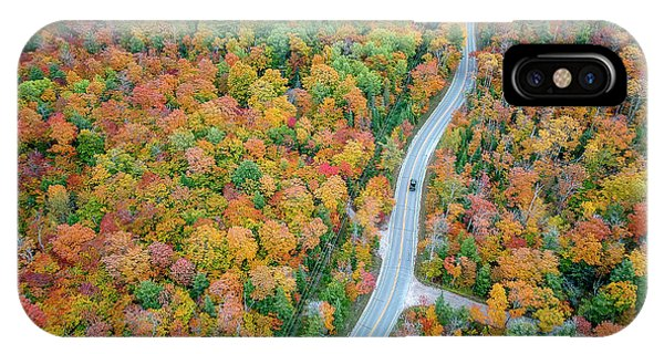IPhone Case featuring the photograph Route 42 Aerial by Adam Romanowicz