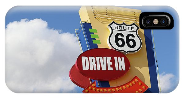 Route 66 Drive-in Sign IPhone Case