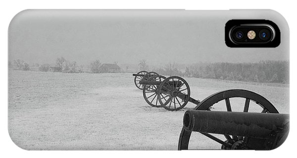 Row Of Cannon IPhone Case
