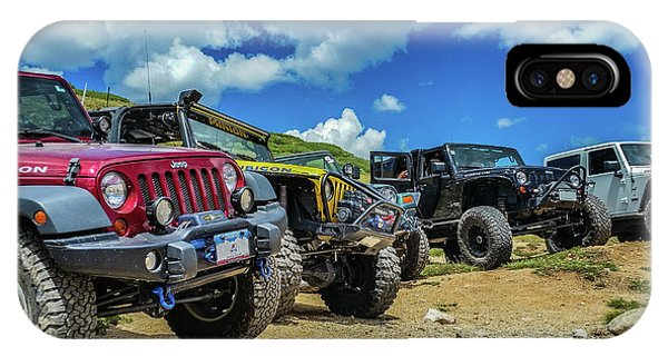 Row Of Jeeps IPhone Case
