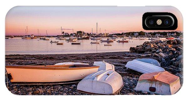 Rowboats At Rye Harbor, Sunset IPhone Case