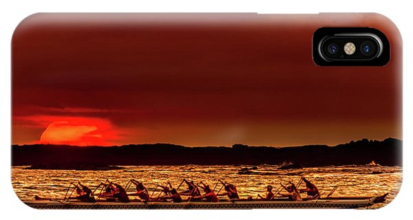 Rowing In The Sunset IPhone Case