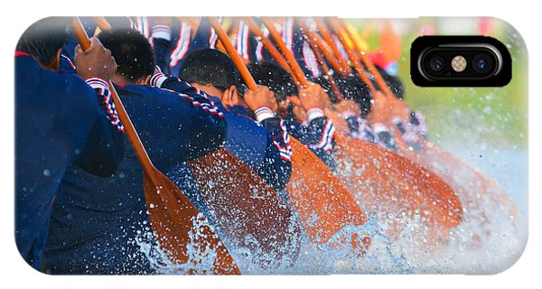 Struggle iPhone Case - Rowing Team Race by Chaiyons021