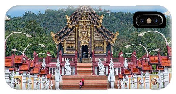 IPhone Case featuring the photograph Royal Park Rajapruek Avenue To The Grand Pavilion Dthcm2584 by Gerry Gantt