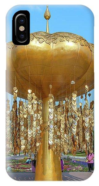 IPhone Case featuring the photograph Royal Park Rajapruek Golden Sculpture Dthcm2579 by Gerry Gantt