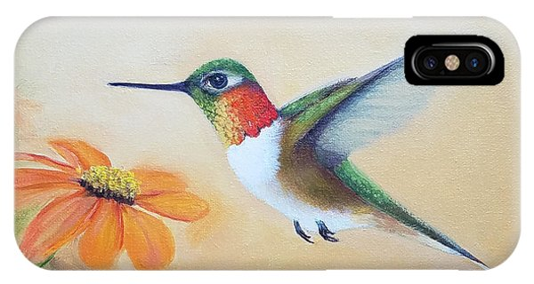 Rufous In Marigolds  IPhone Case