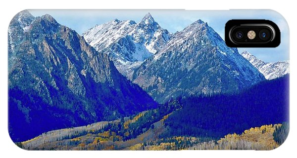 IPhone Case featuring the photograph Rugged Peaks by Dan Miller