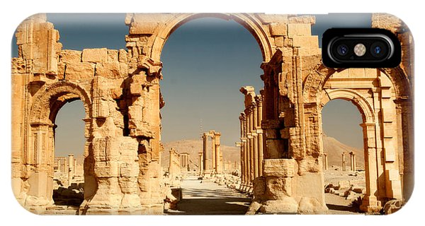 Culture iPhone Case - Ruins Of Ancient City Of Palmyra In by Zdenek Chaloupka