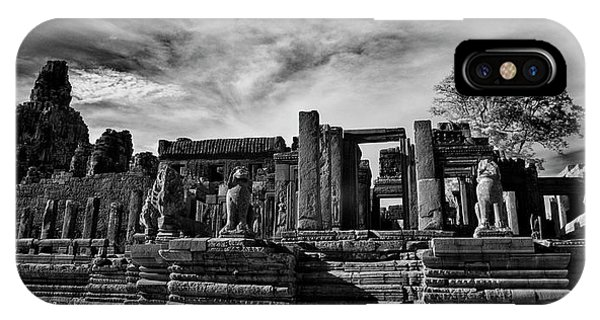 Angkor Thom iPhone Case - Ruins Of Ancient Temple, Prasat Bayon by Panoramic Images