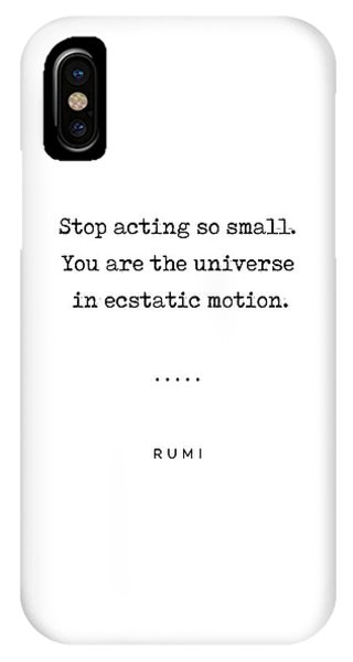 Simple iPhone Case - Rumi Quote 02 - Minimal, Sophisticated, Modern, Classy Typewriter Print - You Are The Universe by Studio Grafiikka