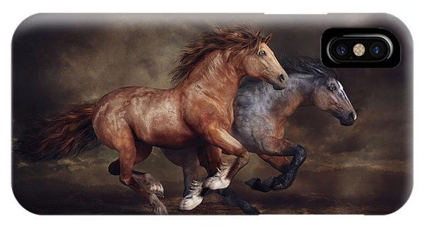 iPhone Case - Running Horses by Shanina Conway