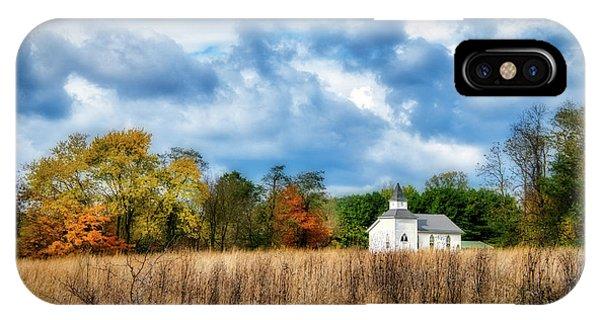 Chapel iPhone Case - Rural Church by Tom Mc Nemar