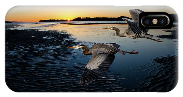 iPhone Case - Rush Hour Rathtrevor Beach  by Bob Christopher
