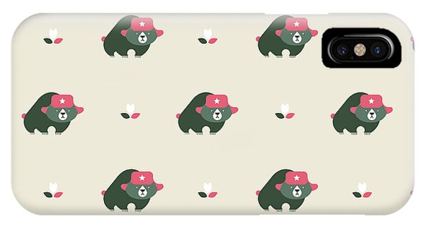 Seamless iPhone Case - Rusian Bear Seamless Pattern by Vector Pro