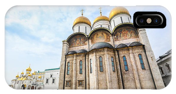 Christianity iPhone Case - Russia. Moscow. Assumption Cathedral Of by Thipjang