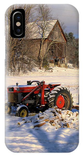 Rustic Barn On Vermont Farm IPhone Case