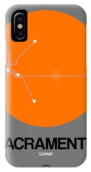 Sacramento iPhone X Case - Sacramento Orange Subway Map by Naxart Studio