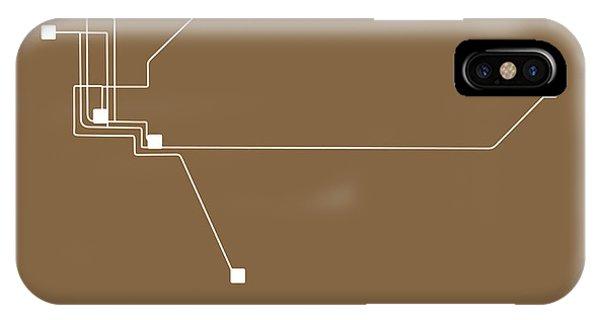 Sacramento iPhone X Case - Sacramento Subway Map 2 by Naxart Studio